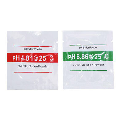 20 Packs PH Buffer Solution Powder PH Test Meter Measure Calibration 4.01 6.86