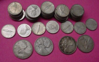 $6.70  Face value Canada Silver Coin lot, mostly 1967