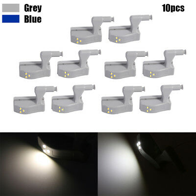 10Pcs Small Door Cabinet Cupboard Closet Wardrobe LED Hinge Light Home Kitchen