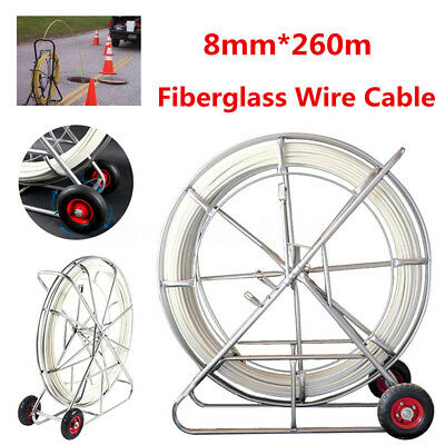 8mm*260m Fiberglass Wire Cable Rod Duct Running Puller Electric Fish Tape Lead