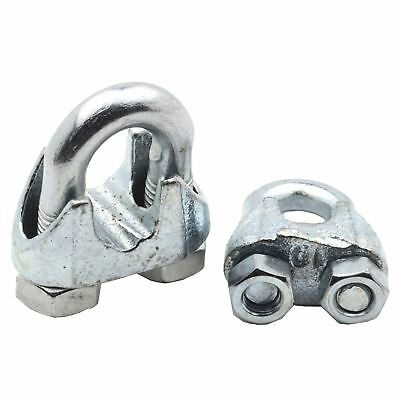 Galvanised Wire Rope Clamp Grip U bolt steel 3mm 5mm 6mm 8mm 10mm 12mm