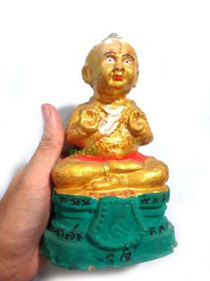 15180 Thai Amulet Gambling Lucky Guman Thong Baby Mantra Clay Colored Yeam 2006