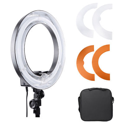 "Photo 45w Fluorescent 14"" Dimmable Ring Light Video Studio Portrait Light w/ Bag"