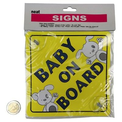 Baby On Board Child On Board Safety Car Vehicle Signs With 2 Suction Cups