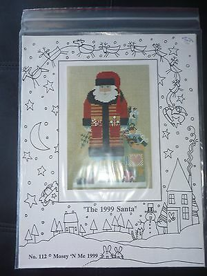 The Mosey 'n Me 1999 Cross Stitch Patterns No 112 - The 1999 Santa - Christmas