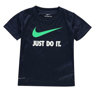 BRAND NEW With Tags Boys Blue Nike JUST DO IT T Shirt Size 6-7 Yrs (OBSIDIAN)