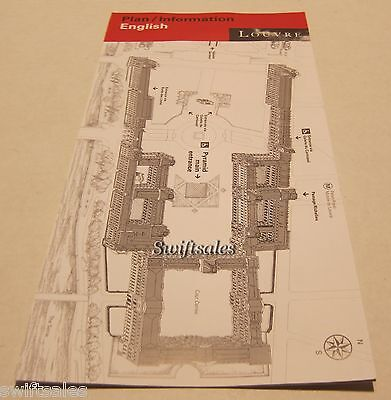 Official Paris France Louvre Museum Printed Guide Map - Latest English Edition