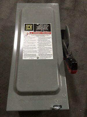 Square D Hu361 30 Amp, 600V 3 Pole Safety Switch/disconnect Non Fusible