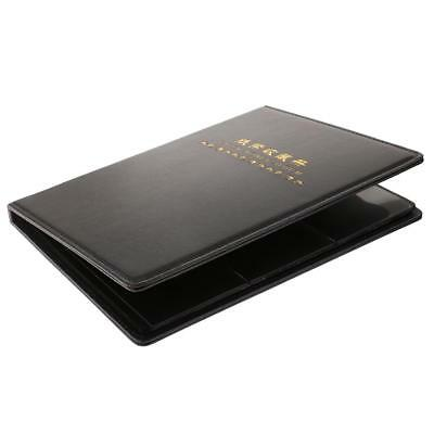 60 Pockets Paper Money Collection Album Stamps Book Soft Leather Notes Black