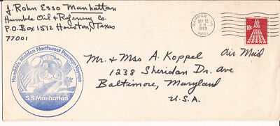 1969 Ss Manhattan Humble's Maiden Northest Passage Voyage Letter  & Postal Cover