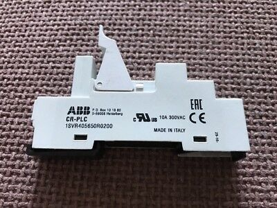CR-PLC 1SVR 405650R0200 ABB socket for pluggable interface relays (New no Box)