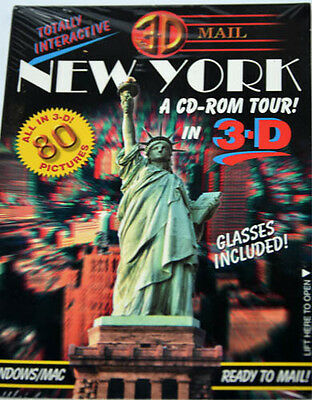 80 CD-Rom 3D images Of New York Tour Glasses Included..
