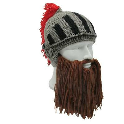 b6c4155e4f5ba Warm Beanie Funny Winter Autumn Hat Roman Knight Helmet Lookalike Handmade  Cap