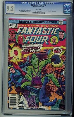 Fantastic Four #176 - Marvel Comics 1976 - CGC 9.2 White Pages Impossible Man