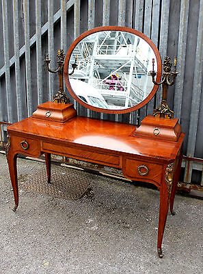 A Beautiful Quality French Satinwood And Ormolu Mounted Dressing Table