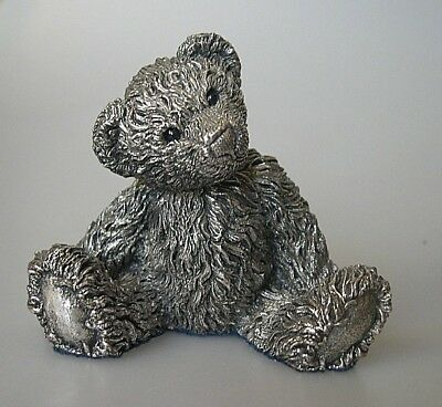 1994 Country Artists Sterling Silver Filled Hallmarked Teddy Bear - 6.5cm high