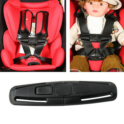 Baby Safety Car Seat Strap Child Toddler Chest Harness Clip Safe Buckle Black