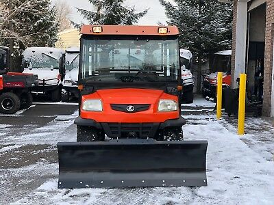 "Kubota Rtv900 4X4 Diesel Heated Hard Cab,hydro Turn Brand New 66"" Snow Plow"