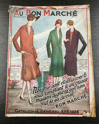 Vintage French Fashion Catalogue - Au Bon Marche 1926