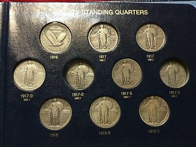 Partial Set of 30 Different Standing Liberty Quarters