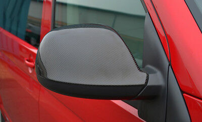 Carbon Fibre Wing Mirror Trim Set Covers To Fit Volkswagen T5 Transporter 10-15