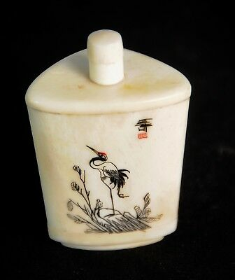 Exquisite handpainted Old Snuff Bottle - US SELLER