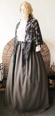 Victorian  Poor Work Style Shawl Skirt Dickensian Christmas Carol Costume New