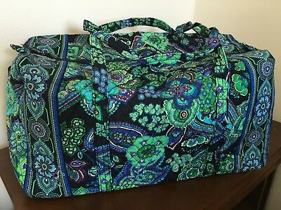 Vera Bradley Large Duffel Bag in Blue Rhapsody