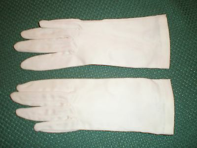 Kay Fuch's Vintage Dress Gloves Ladies M Stretch Satin Unlined