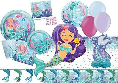 Magical Mermaid Birthday Party Supplies Tableware Balloons Decorations Game