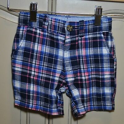 NEW CARTER Boys COTTON Spring Summer Adjustable Waist Striped Shorts Sz 2T