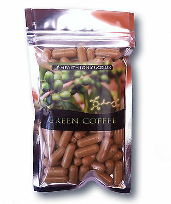 Green Coffee Extract  (20:1 Equivalent to 10,000mg), 30-90 Vegetarian Capsules