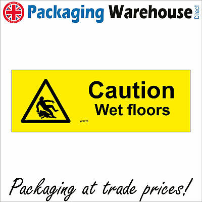 Danger Safety Warning Signs A WS223 sticker CAUTION WET FLOORS rigid