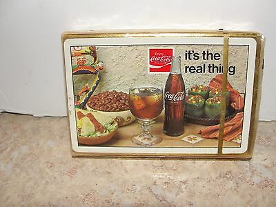 SEALED PLAYING CARDS 1970s COCA-COLA COKE IT'S THE REAL THING