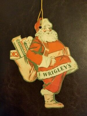 Antique Wrigley's Chewing Gum Cardboard Very Rare Ornament 1930s