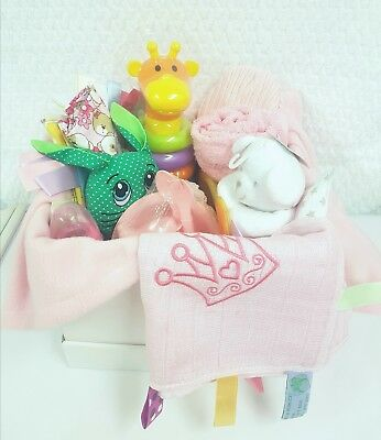 Baby Hamper Newborn Birthday Christmas Gift Baby Shower Luxury Girl rrp £45