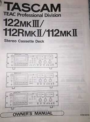 Tascam 122 Mk3/122 Mk2/112R Mk2  Cassette Recorders  Manual (Copy)