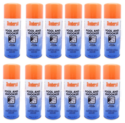Ambersil 400ml Pool & Snooker Table Cloth Cleaner Stain Remover Box Of 12 31632