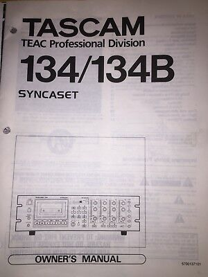 Tascam 134/134B 4 Track Cassette Recorders  Manual (Copy)