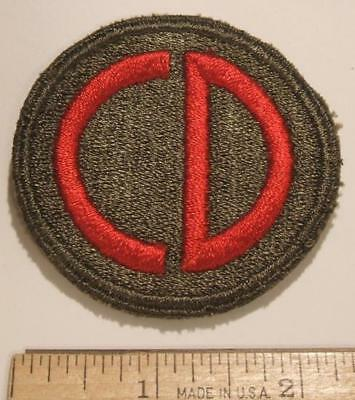 ORIGINAL WW2 US ARMY 85th INFANTRY DIVISION CUT EDGE PATCH ~ NO GLOW