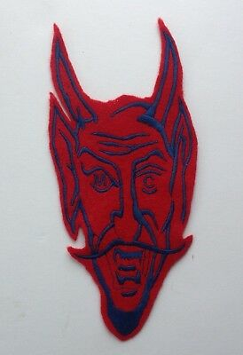 VINTAGE MOTORCYCLE CLUB VEST PATCH SATAN 1%er