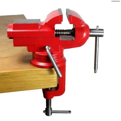 """Bodee 2 - 1/2"""" clamp-on bench vise with anvil and 360° locking swivel base"""