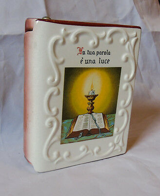 Italian Religious Pottery Book with Psalm - Salmo 23 - Italy