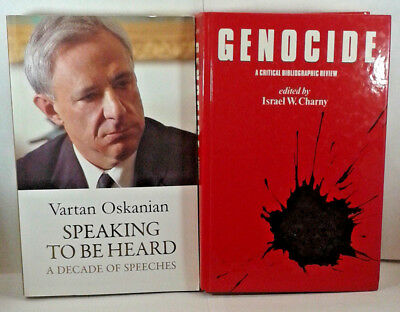 Lot 2 Armenian Books Genocide,Vartan Oskanian Speaking To Be Heard