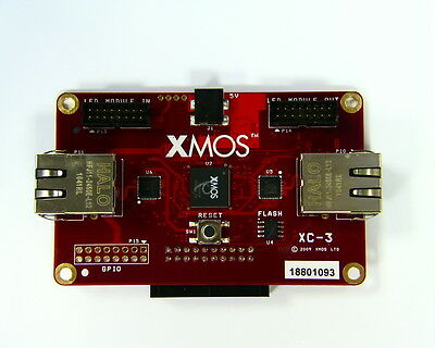 XMOS X-CARD XC-3 LED Driver Development Kit, PSU, 2 Eithernet Ports, Programmer