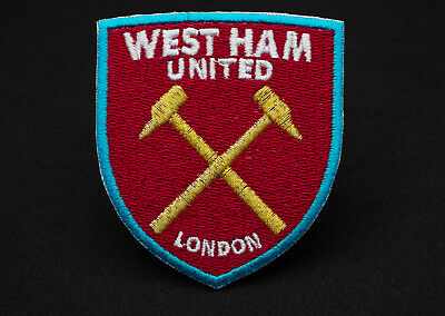 Badge Embroidered Patch FC West Ham United England Iron On Sew On