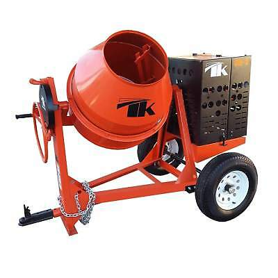 TK Equipment 12 Cu. Ft. Steel Drum Concrete Mixer w/ GX390 Honda Engine CM12-GH1