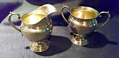 WALLACE STERLING SILVER 3651 Coventry Sugar & Creamer Set 230.8 grams