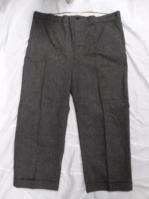 1940's VINTAGE BLUE BELL WHIPCORD SALT AND PEPPER WORK PANTS Sanforized S 44x28