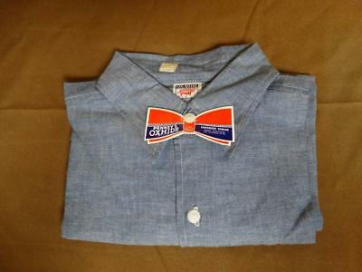 Rare NOS J.C. Penney's Ox Hide Blue Sanforized Work Shirt-Sz 16 w/tag NR